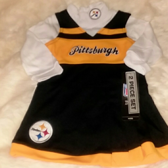 76bf4e995 NWT NFL VISA Pittsburgh Steelers Dress Set 18 Mont. NWT. Authentic NFL VISA Team  Apparel